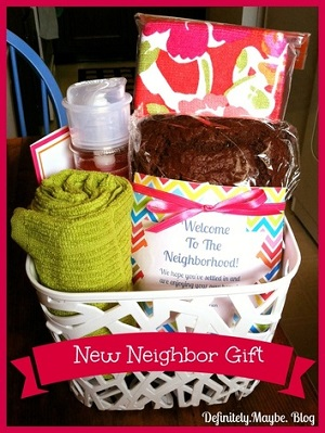 New Neighbor Gift Basket From Definitely Maybe